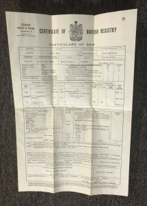 VANCOUVER , B.C. , 1950 Ship's Registry for BLUE DUCK