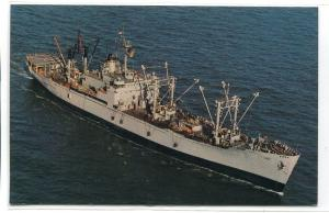 USNS Rigel T-AF 58 Refrigerated Store Ship US Navy Ship Warship postcard