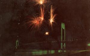 NY - New York City. Verrazano Narrows Bridge & Fireworks