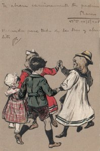 Children dancing in a circle, 1900-10s; PFB 2069