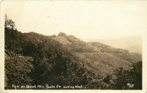 RPPC Postcard 32. View on Cheat Mtn. Route 50 Allegheny Mountains WV Unposted