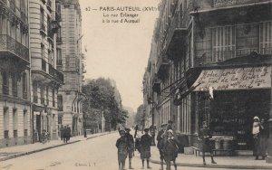 PARIS-AUTEUIL, France , 00-10s ; La Rue Erlanger a la rue d'Auteuil