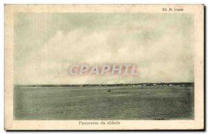 Old Postcard Panorama da Cidade Sao Thome