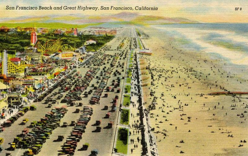 CA - San Francisco. San Francisco Beach and Great Highway
