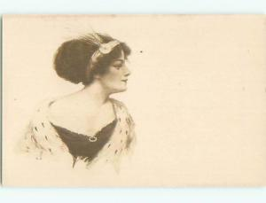 Divided-Back PRETTY WOMAN Risque Interest Postcard AA7891