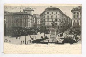 Un Saluto da GENOVA, Italy, PU-1898, Piazza Corvetto