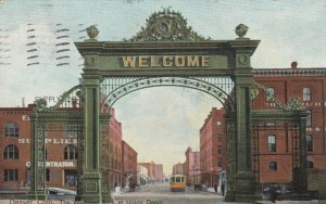 DENVER, Colorado, PU-1908; Welcome Arch at Railroad Train Station