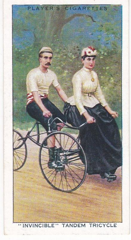 "Cigarette Cards Players CYCLING No 15 ""Invincible"" Tandem Tricycle"