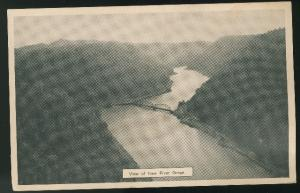 WV Ansted New River Gorge View from Hawks Nest State Park Vintage Postcard