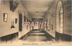 Postcard Abbey of the Interieur du Cloitre Meilleraye