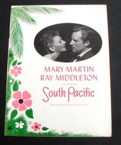 South Pacific 1950 Mary Martin Original Broadway Program
