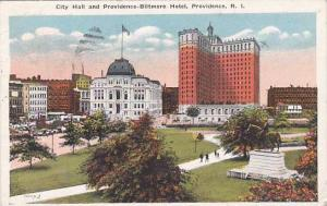 Rhode Island Providence City Hall And Providence Biltmore Hotel 1922