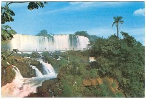 Brazil, Cataratas do Rio Iguaçu used Postcard