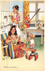 Lot 70 perfect husband italy comic husband washing dishes in the kitchen