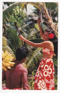Gathering Fruit, Bananas, Tahiti, Fiji, PU-1957