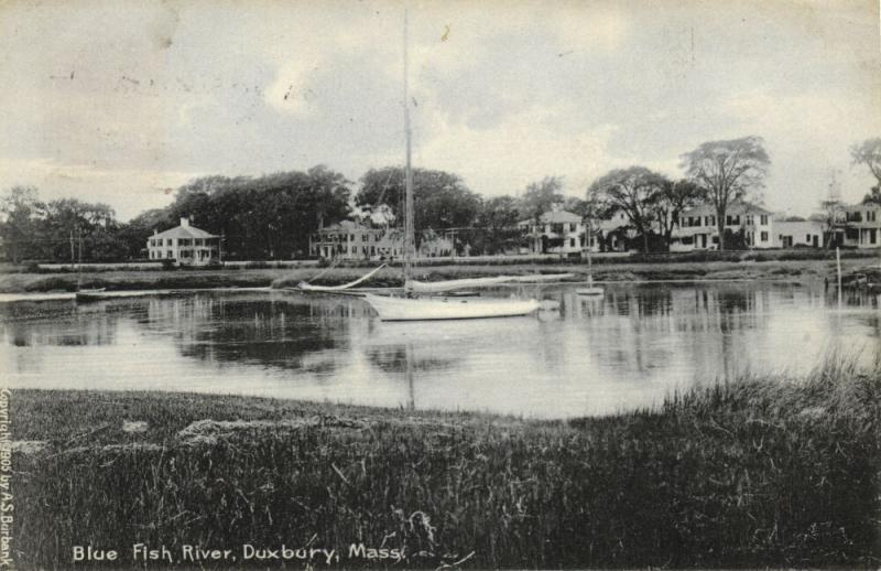 Duxbury, Mass., Blue Fish Water (1906) Postcard