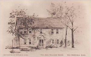Massachusetts Old Deerfield The John Williams House Albertype