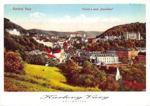 Czech R. Karlovy Vary, Antiquites, Pohled s cesty Panorama aerial view