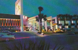 Night Scene Along Motel Row Miami Beach Florida