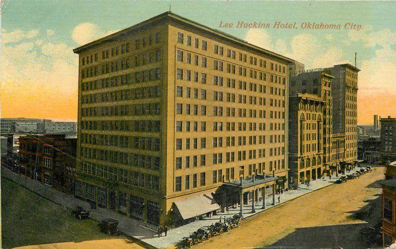 Autos 1913 Lee Huckins Hotel Oklahoma City Postcard 12739