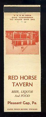 Pleasant Gap, Pennsylvania/PA Matchcover/Matchbook, Red H...