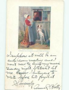 Divided-Back DOG SCENE Great Postcard AA9362