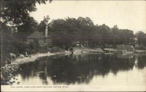 Oak Lodge Lake Lida Near Pelican Rapids MN c1910 Real Photo Postcard