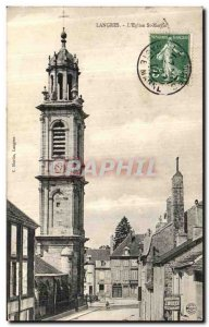 Old Postcard Langres The St. Martin's Church