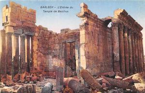 Baalbek, Syria Postcard, Syrie Turquie, Postale, Universelle, Carte L'entranc...