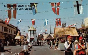 Junction City Oregon~Downtown~Scandinavian Festival~Concession Stand~1970s PC