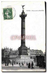 Postcard Old Paris Bastille Square