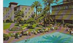 Arizona Phoenix Patio Of Hotel Westward Ho A Resort Hotel In Downtown with Pool