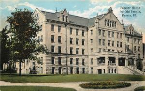 1907-1915 Postcard; Proctor Home for Old People, Peoria IL Wheelock &Co Unposted