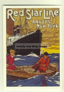ad2221 - Red Star Line - modern poster advert postcard