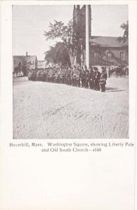 HAVERHILL , Massachusetts , 00-10s ;  Washington Square,showing Liberty Pole and