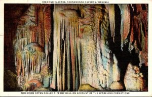 Virginia Shenandoah Caverns Diamond Cascade 1938