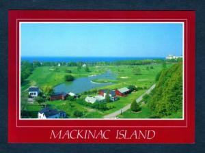 MI Aerial View MACKINAC ISLAND Golf Course MICHIGAN PC