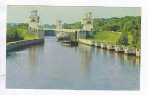 Lock of the Moscow canal, 1960s