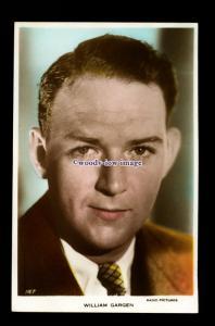 b6460 - Film Actor - William Gargen No.187 - Radio Pictures - postcard