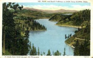 Scenis Auto Road Through Mountains Coeur d'Alene ID 1945