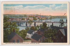 South Bridge & Androscoggin River, Lewiston ME