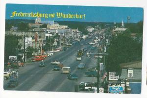 Texas Fredericksburg Aerial Street View 1993 Postcard TX