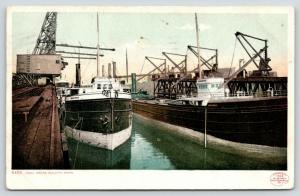 Duluth Minnesota~Coal Docks~Freighters Black Rock & Nyanza~1902 Detroit Pub Co