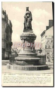 Old Postcard Angers Statue of Margaret of Anjou