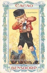 Advertising Postcard - Old Vintage Antique Cacao Bensdorp L'Allemagne Wr...