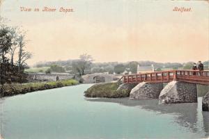 BELFAST NORTHERN IRELAND~VIEW ON RIVER LAGAN~PHOTO POSTCARD