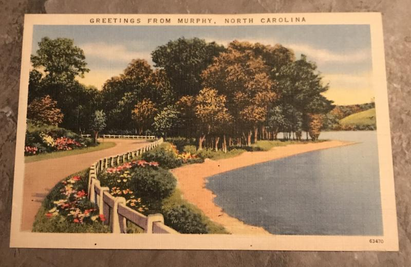 Greetings From Murphy North Carolina Tichnor Brothers Postcard