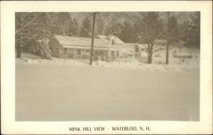 Waterloo NH Mink Hill View in Winter Real Photo Postcard