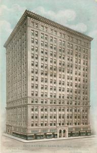 Omaha Nebraska~City National Bank Beaux Arts Bldg~Artist Rendering c1910