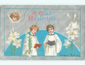 Pre-Linen Easter KIDS SINGING IN THE CHOIR AB4063